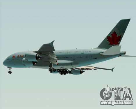 Airbus A380-800 Air Canada for GTA San Andreas inner view