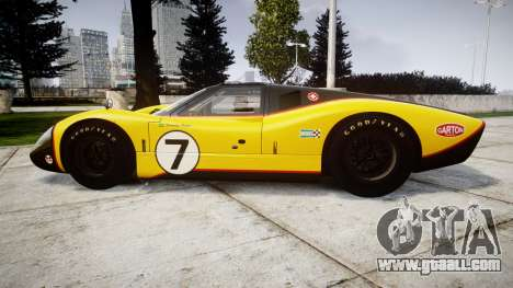 Ford GT40 Mark IV 1967 PJ Fernando Pedace 7 for GTA 4 left view