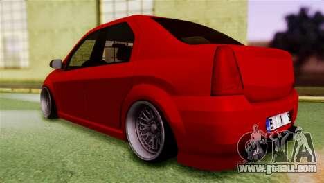 Dacia Logan Kys for GTA San Andreas left view