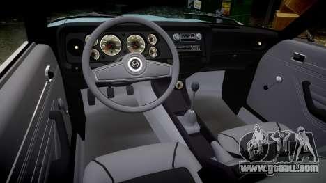 Ford Capri GT Mk1 for GTA 4 inner view