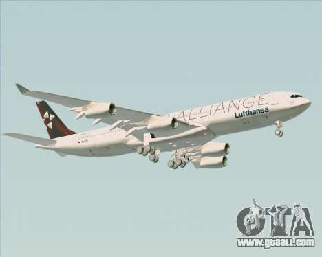 Airbus A340-300 Lufthansa (Star Alliance Livery) for GTA San Andreas upper view