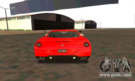 Ferrari 599 Beta v1.1 for GTA San Andreas right view