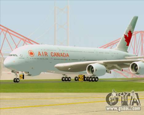 Airbus A380-800 Air Canada for GTA San Andreas left view