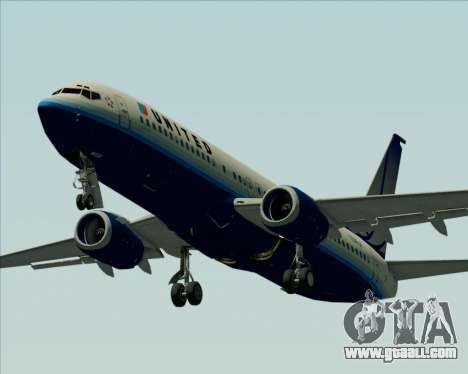 Boeing 737-800 United Airlines for GTA San Andreas upper view