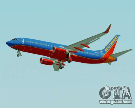 Boeing 737-800 Southwest Airlines for GTA San Andreas wheels