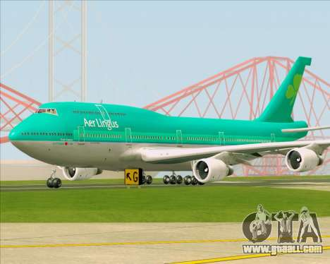 Boeing 747-400 Aer Lingus for GTA San Andreas left view