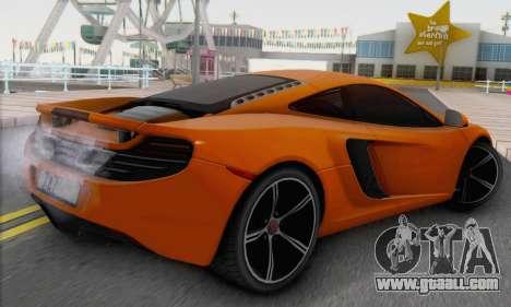 McLaren MP4-12C Gawai v1.4 for GTA San Andreas left view