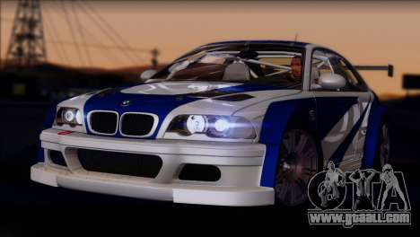 BMW M3 E46 GTR for GTA San Andreas back view