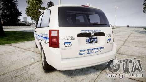 Dodge Grand Caravan [ELS] Liberty County Sheriff for GTA 4 back left view