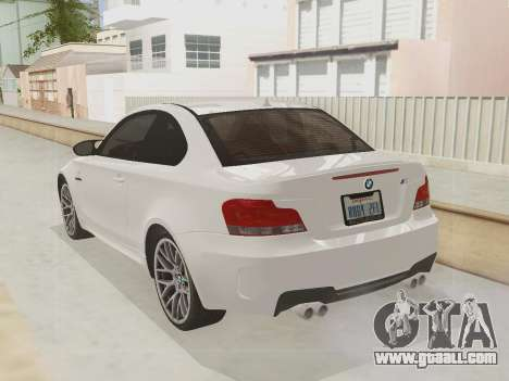 BMW 1M 2011 for GTA San Andreas inner view