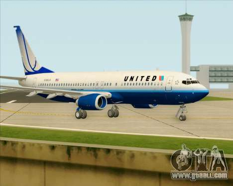 Boeing 737-800 United Airlines for GTA San Andreas back left view