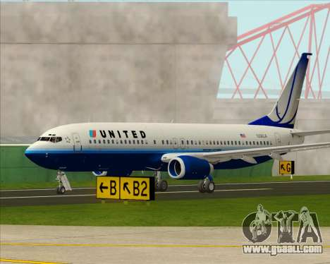 Boeing 737-800 United Airlines for GTA San Andreas side view