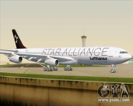 Airbus A340-300 Lufthansa (Star Alliance Livery) for GTA San Andreas bottom view