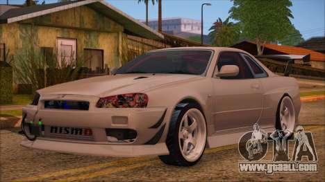 Nissan Skyline R34 GTR V-Spec 2 for GTA San Andreas