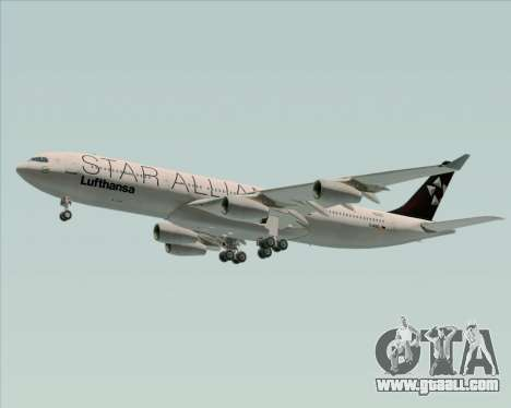 Airbus A340-300 Lufthansa (Star Alliance Livery) for GTA San Andreas back left view