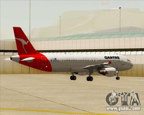 Airbus A320-200 Qantas for GTA San Andreas back view