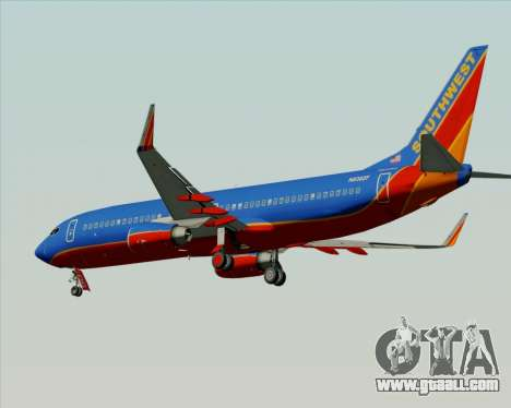 Boeing 737-800 Southwest Airlines for GTA San Andreas back left view