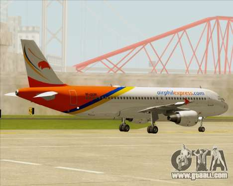 Airbus A320-200 Airphil Express for GTA San Andreas back view