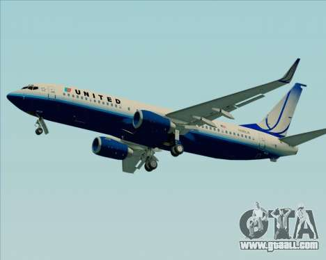 Boeing 737-800 United Airlines for GTA San Andreas back view