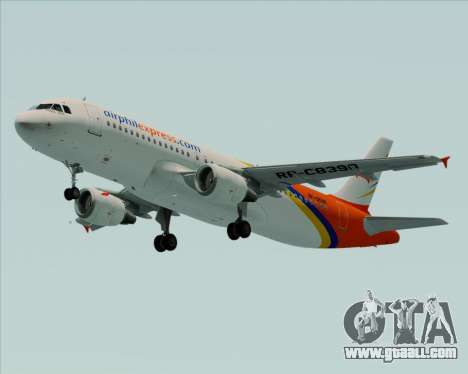 Airbus A320-200 Airphil Express for GTA San Andreas left view
