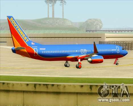 Boeing 737-800 Southwest Airlines for GTA San Andreas bottom view