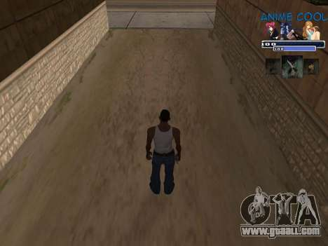 Anime C-HUD for GTA San Andreas second screenshot