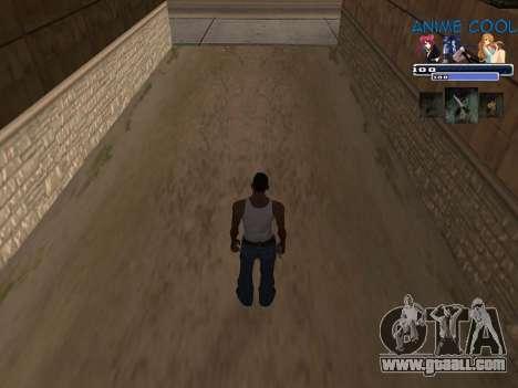 Anime C-HUD for GTA San Andreas second screenshot