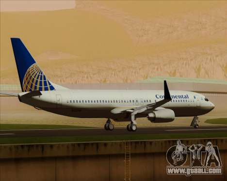 Boeing 737-800 Continental Airlines for GTA San Andreas upper view