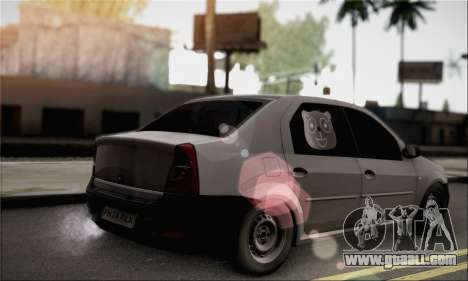 Dacia Logan 2009 for GTA San Andreas left view