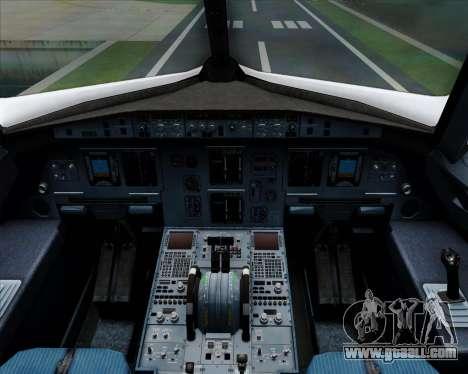 Airbus A320-200 Qantas for GTA San Andreas interior