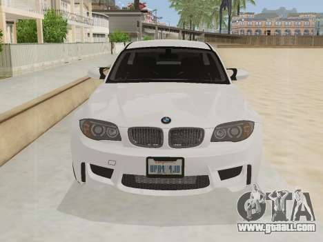 BMW 1M 2011 for GTA San Andreas left view