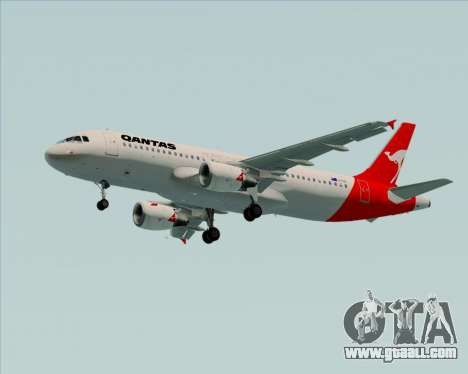 Airbus A320-200 Qantas for GTA San Andreas wheels