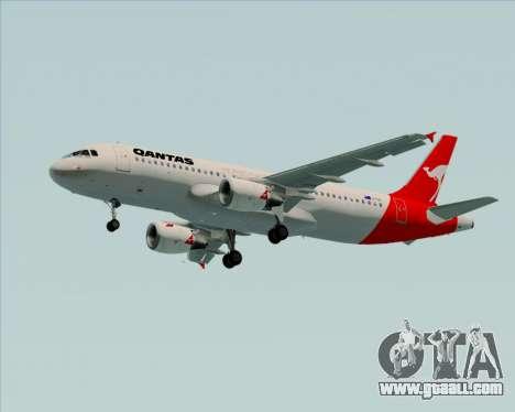 Airbus A320-200 Qantas for GTA San Andreas wheels