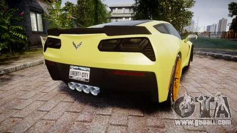 Chevrolet Corvette Z06 2015 TireGY for GTA 4 back left view
