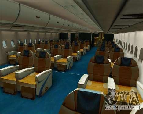 Airbus A380-800 Air Canada for GTA San Andreas wheels