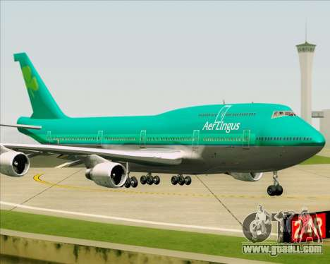 Boeing 747-400 Aer Lingus for GTA San Andreas back view