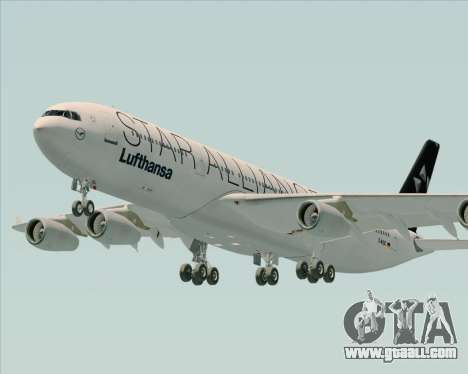 Airbus A340-300 Lufthansa (Star Alliance Livery) for GTA San Andreas side view