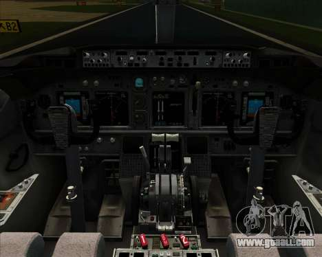 Boeing 737-800 Continental Airlines for GTA San Andreas interior