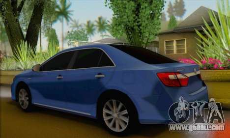 Toyota Aurion for GTA San Andreas left view