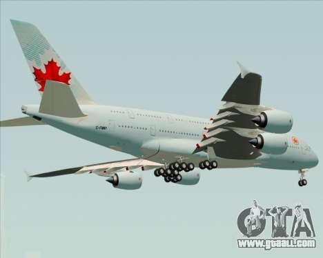 Airbus A380-800 Air Canada for GTA San Andreas right view