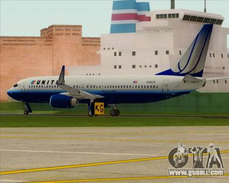 Boeing 737-800 United Airlines for GTA San Andreas right view