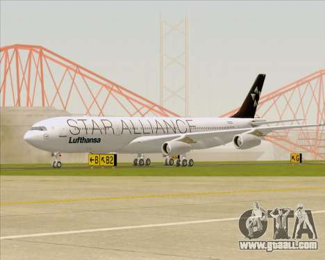 Airbus A340-300 Lufthansa (Star Alliance Livery) for GTA San Andreas left view