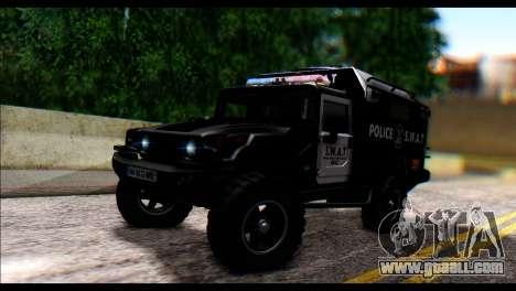 SWAT Enforcer for GTA San Andreas