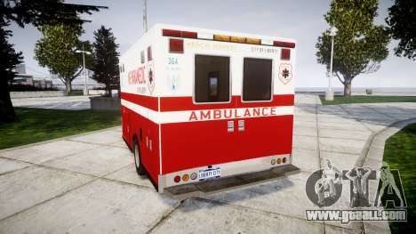 Brute V-240 Ambulance [ELS] for GTA 4 back left view