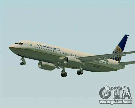 Boeing 737-800 Continental Airlines for GTA San Andreas left view