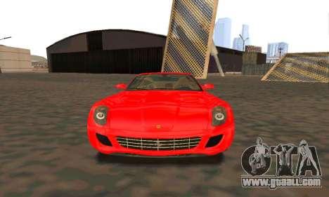 Ferrari 599 Beta v1.1 for GTA San Andreas