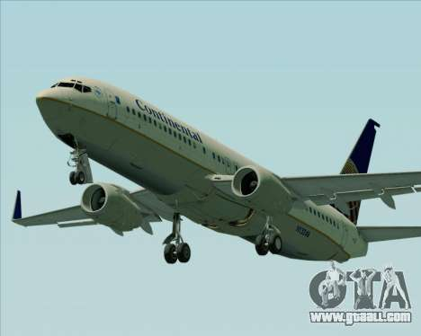 Boeing 737-800 Continental Airlines for GTA San Andreas engine
