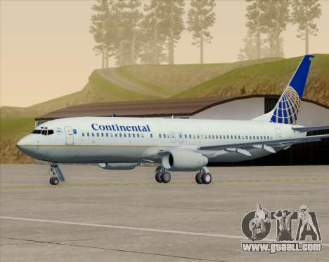 Boeing 737-800 Continental Airlines for GTA San Andreas wheels