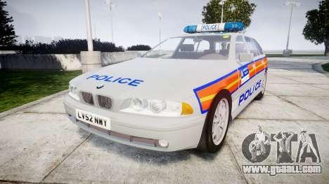 BMW 525i E39 Touring Police [ELS] JSARVV for GTA 4
