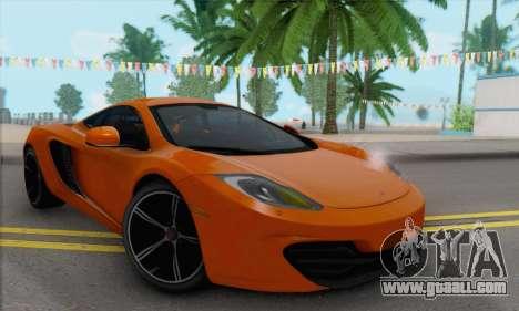 McLaren MP4-12C Gawai v1.4 for GTA San Andreas